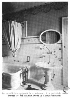"""Nice tile border. From """"Building a Home,"""" published in 1908."""