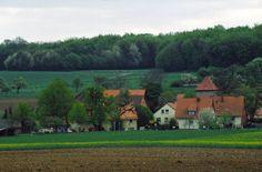 Knutbühren Ortseingang aus Richtung Barterode