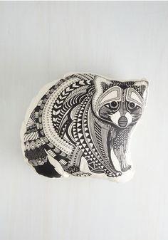 racoon pillow