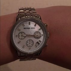 Michael Kors Silver Watch barely worn - from Nordstrom - originally $225 Michael Kors Accessories Watches