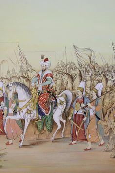 MİNYATÜR: Ozcan Özcan Fatih Sultan Mehmetin ayasofya meydanına gelişi Turkish Art, Antique Illustration, Islamic Art Calligraphy, Ottoman Empire, Tile Art, Religious Art, Graphic Design Art, Disney Scrapbook, Miniatures