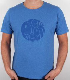 Pretty Green - Logo T-shirt in Blue Marl,pretty green mens logo tee