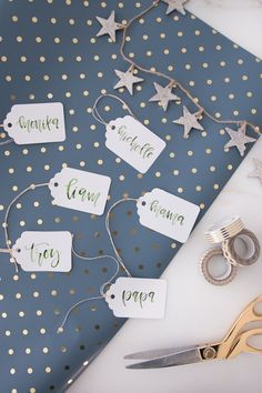 | Wrap is up pretty | http://monikahibbs.com Sugar Paper for Target wrapping paper // love the sparkly stars