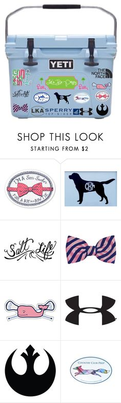 """""""Yeti Cooler Change!!"""" by kaleighgranger ❤ liked on Polyvore featuring Sperry Top-Sider, The North Face, Southern Tide, Vineyard Vines, Under Armour, Lilly Pulitzer, yeticooler2k16 ve lakeannalove"""