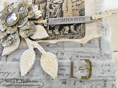 Welcome to another edition ofmy new blogseries, where each Tuesday I'm sharing a piece of textured art that caught my eye somewhere in the Blogosphere. This lovely creation... Read More