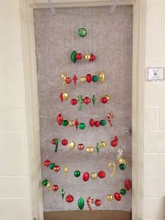 My Christmas Door Decoration For 2013. I Won 1st Place Again For Our Door  Decoration