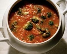 Living Without - Gluten-Free Tomato Broccoli Soup - Recipes Article