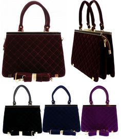 BNWT CELEBRITY FAUX SUEDE QUILTED LADIES MEDIUM HARDCASE PARTY OFFICE HAND BAG