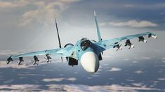 The is a single-seat multirole carrier-based conventional take-off and landing (CTOL) fighter aircraft. It is manufactured by Sukhoi in Komsomolsk-on-Amur, Russia. The aircraft has been princ… Sukhoi Su 35, Air Force Aircraft, Fighter Aircraft, Air Fighter, Fighter Jets, Turbofan Engine, Flying Vehicles, Russian Air Force, Military Aircraft