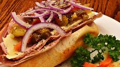 Spicy Salami Sandwich with Goat Cheese and Tapenade