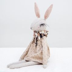 Update: SOLD •••• #lenabekh #fabricdoll #artdoll #etsyshop #textileart #softsculpture #heirloomdoll #ragdoll #clothdoll #dollartist #needlework #creativeprocess #fabricflower #handmadegifts #bunny #bunnydoll #textiledesign #bunnylove #rabbit #lapin #girlroom #forgirls #embroideries #текстильнаякукла #зайка