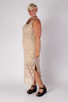 Plus Size Clothing for Women - Crochet Pattern Maxi Dress (Sizes 12 - 18) - Society+ - Society Plus - Buy Online Now!