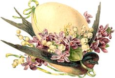 """Photo from album """"цветы винтаж"""" on Yandex. Easter Art, Easter Crafts, Easter Eggs, Vintage Cards, Vintage Images, Clipart Vintage, Easter Bunny Pictures, Easter Illustration, Easter Projects"""