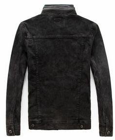 mens-black-motorcycle-biker-denim-jacket-coat-outwear
