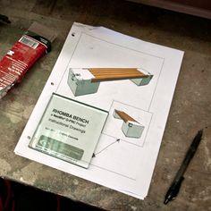 CHENG Concrete Exchange - Drawings: Rhomba Bench, Wetcast Method