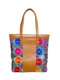 Floral embroidered Mayakoba shoulder bag