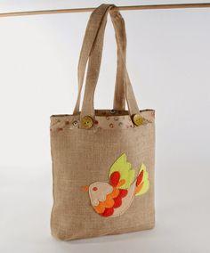 Sew What? by Debbie Shore: Bird applique bag for life