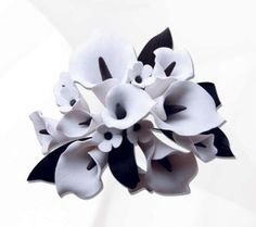 White & Black Calla Lily Cake Topper perfect for cake decorating fondant cakes | CaljavaOnline.com