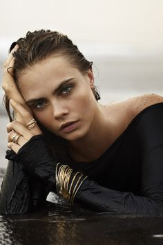 Cara Delevingne for John Hardy Jewelry, Fall 2014 Ad Campaign Photographed by: Sebastian Faena