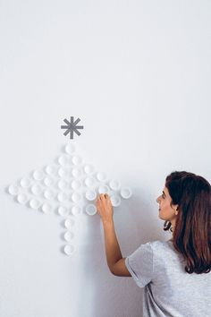 Cupcake Cases DIY: Wall Decoration For Christmas. DIY on decor8blog.com // My friend Pamuk shown above.