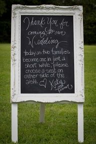 white frame with chalk background