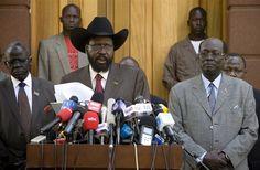 President of the government of South Sudan Salva Kiir Mayardit just before the Sudan referendum