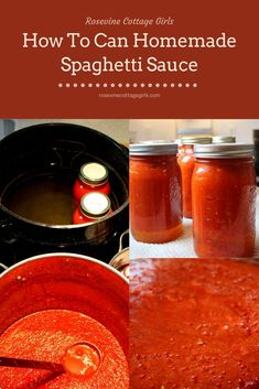 Homemade Canned Spaghetti Sauce, Canned Tomato Recipes, Homemade Tomato Sauce, Tomato Sauce Recipe, Canned Tomato Sauce, Amazing Spaghetti Sauce Recipe, Prego Spaghetti Sauce Recipe, Spaghetti Sauce For Canning, Pasta Sauce Canning Recipe