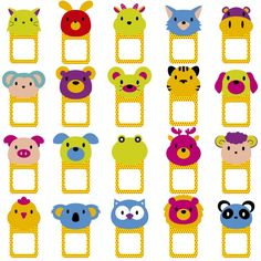 Illustration about Animal faces text frames/notes/tags clip art set. Illustration of baby, childlike, cartoon - 58497291