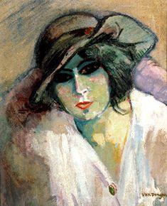 Woman in a Green Hat by Kees van Dongen