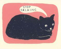 Stop talking, start petting