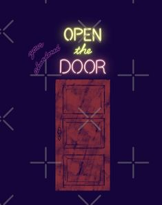 Open the your abandoned door  by mi2creation | Redbubble Top Artists, Abandoned, Forget, Neon Signs, Doors, Shop, Left Out, Gate