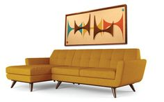 like the shape of the couch - must find in one in teal.  Mid Century /  Danish Modern Atomic WITCO Styled Wall Art