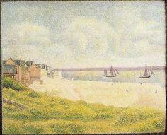 Vue de Crotoy - (Georges Pierre Seurat)