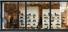 texture building facade store shop storefront window shopping shoe shoes
