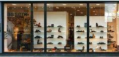 texture building facade store shop storefront window shopping shoe shoes