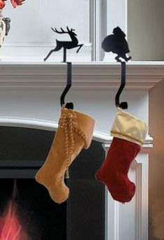 Wrought Iron 9in Toy Soldier Christmas Stocking Winter Fireplace Mantel Hook - Find at Wrought Iron Haven products such as stocking holders, christmas stocking holders, mantle decor, stocking holders for mantle, stocking hangers.