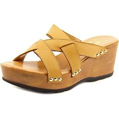 f127909f0e9c Callisto Womens Syrah Wedge Sandal Tan 5 US5 M US   You can get additional  details