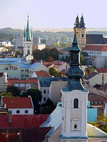 Nitra; Latin: Nitria; German: Neutra; Hungarian: Nyitra or Nyitria [archaic]) is a city in western Slovakia, situated at the foot of Zobor Mountain in the valley of the river Nitra. With a population of about 83,572, it is the fourth largest city in Slovakia.[1] Nitra is also one of the oldest cities in Slovakia; it was the political center of the Principality of Nitra. Today, it is a seat of a kraj (Nitra Region) and an okres (Nitra District).
