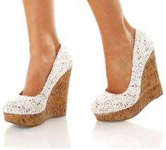 Nothing like a cork wedge in white