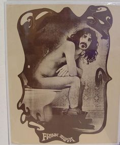 FRANK ZAPPA ON TOILET POSTER