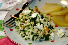 Toasted Cous Cous Salad with Chilli Oil and Feta Cheese