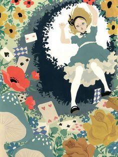 Alice in Wonderland illustration by Katogi Mari