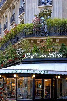 "Street cafe Paris ""Cafe de Flore''"