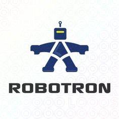 Exclusive Customizable Logo For Sale: Robotron   StockLogos.com