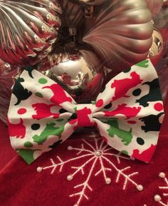 Scotty Holly Themed Bow/Bow Tie by PawtyDog on Etsy
