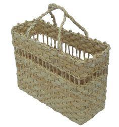 Bolsa (Sacola) de feira artesanal toda trabalhada em palha de milho