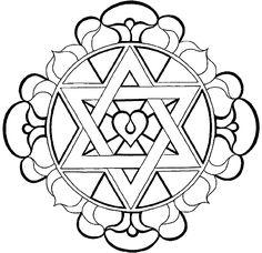 Desenho de Mandala para Colorir e Imprimir