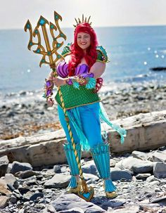 Warrior Ariel Cosplayed by: Lanthea Cosplay Photo by:  Leigh MacNeil Photography #thelittlemermaid #disney