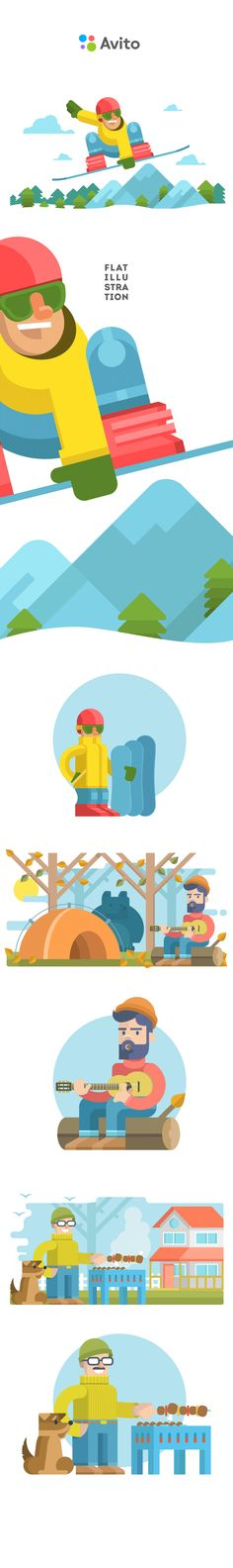 #flat_illustration Flat illustration for avito.ru https://www.behance.net/gallery/21410665/Flat-illustration-for-avitoru7eaf7a90e930555cd250697de14cb74c.gif (GIF Image, 717 × 4813 pixels)