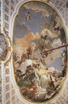 Giovanni Battista Tiepolo - The Apotheosis of the Spanish Monarchy, 1762  Palazzo Reale di Madrid